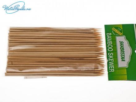 Шампур 100 шт бамбук 15 см х 3 мм 43000