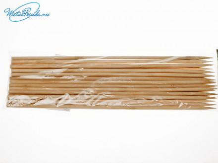 Шампур 25 шт дерево 30 см х 6 мм 46466