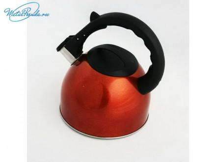 Чайник 2.5 л стальной гранатовый RWK042-C2.5L- CH К12, VETTA 847G003