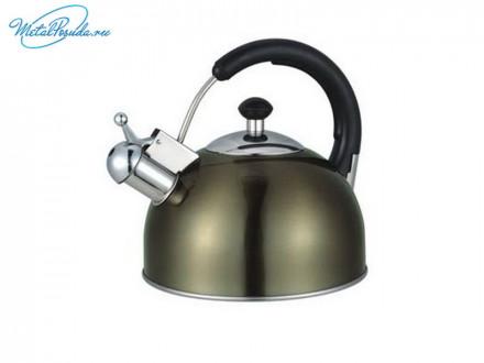 Чайник 2.5 л стальной цвет золотистое шампанское RWK033-2.5L-B, VETTA 847G013