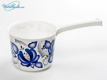 Ковш 1.5 л пластик Деко Гжель  72696