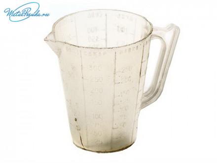 Кружка мерная 250 мл, пластик 9523