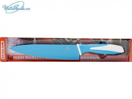 Нож 19 см металл цветной 44850