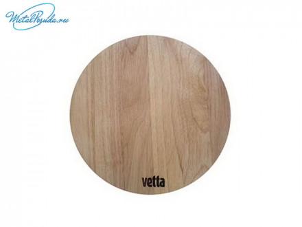 Доска разделочная круглая d 26 см, гевея, Light VETTA, 851G080