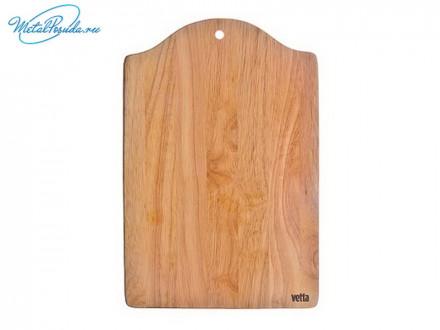 Доска разделочная 34 х 23 х 1,0 см, гевея, Light VETTA, 851G082