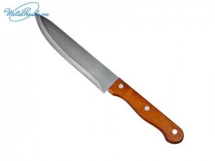 Нож кухонный 17,5см деревянная ручка