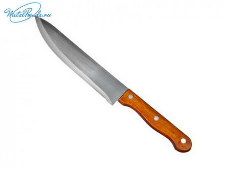 Нож кухонный 20 см деревянная ручка