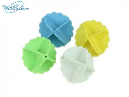 Набор мячей 4шт для стирки белья ПВХ  D5см