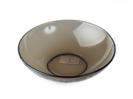 Тарелка 19 см суповая дымчатое стекло BASILIPO