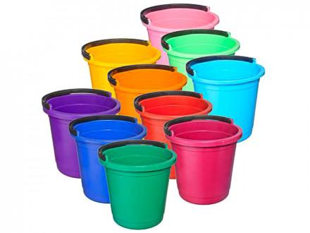 Ведро пластмассовое 5 л 10 цветов