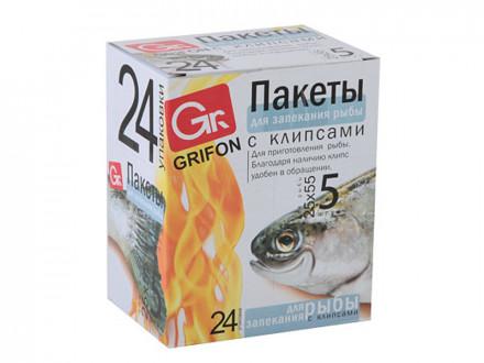 Пакеты 5 шт для запекания рыбы, 25х55 см, шоу-бокс