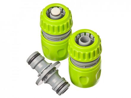 Набор для полива (2 коннектора с аквастопом + двойник)