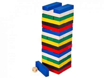 "Настольная игра ""Падающая башня"", дерево, 7х7х21см"