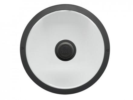 Крышка 24 см с силиконовым ободом
