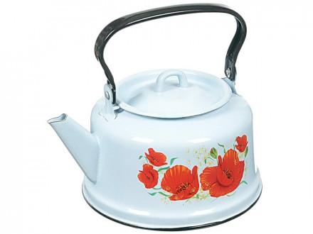 Чайник 3,5л белый декор с петлей