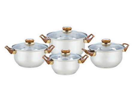 Набор посуды, 8 предметов, BEKKER, BK-4604