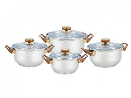 Набор посуды, 8 предметов, BEKKER, BK-4603