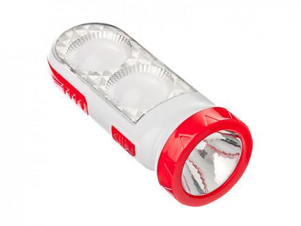 Фонарь 2-в-1 2(8)+1 Вт LED, 3xaa, пластик, 14,5x5,5 см ЧИНГИСХАН