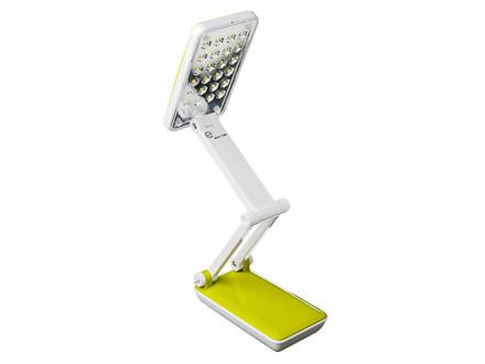 Фонарь - лампа складной 24 ярк. LED, шнур 220В, пластик, 7,5х27х13,5см ЧИНГИСХАН