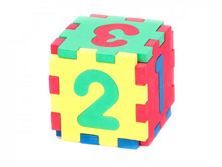 Куб логический с цифрами, ЭВА, 10х10см