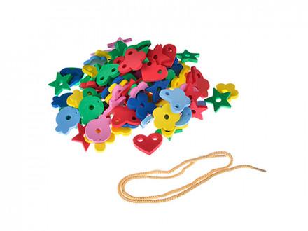 Шнуровка в виде цветов, ЭВА, 15х17см