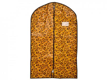 Чехол для одежды с рисунком леопард, спанбонд, 60x100см