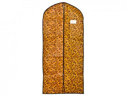 Чехол для одежды с рисунком леопард, спанбонд, 60x137см