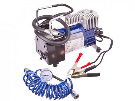 Компрессор автомобильный, крокодилы к АКБ, шланг 5м, в сумке 12V, 280W, 60 л/мин, металл