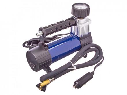 Компрессор автомобильный, штекер прикур, 12V, 140W, 25 л/мин, в сумке, металл