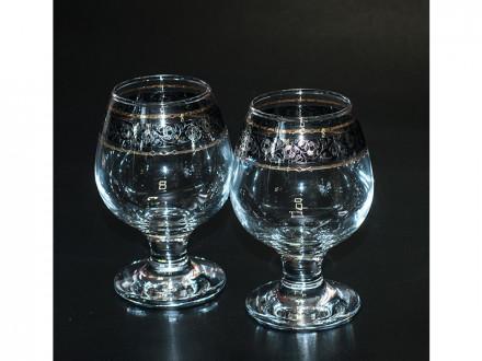"""Набор 6 бокалов для бренди с рисунком """"флорис"""" tl31-483 в7-1"""