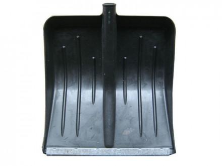 Лопата пластиковая финская с оцинкованной планкой 428х490 d-32