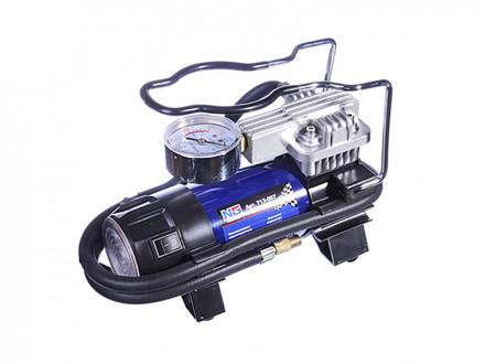 Компрессор автомобильный, штекер прикур, LED фонарь, в сумке, 12V, 140W, 35 л/мин, металл