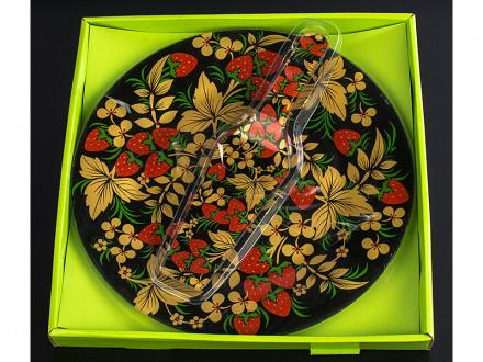 Набор для торта из стекла 2 предмета d 30