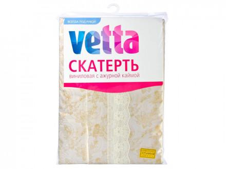 Скатерть виниловая с ажурной каймой, 137x182см, Золото VETTA