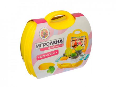 """Игровой набор """"Шеф-повар"""" в чемодане, пластик, 24х10,5х24см ИГРОЛЕНД"""