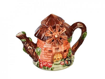 """Чайник заварочный, керамика, 300мл, """"Мельница"""" Домики"""