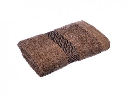 """Полотенце махровое, 100  хлопок, 50х100см, """"Соты"""", коричневый"""