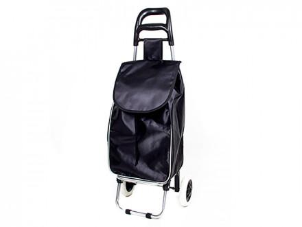 Тележка + сумка, грузоподъемность до 30кг, полиэстер,36х26х94см,колесо d16см