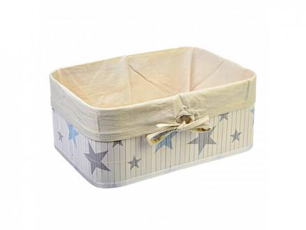 Коробка для хранения складная, бамбук, 33x23x14см Звёзды VETTA