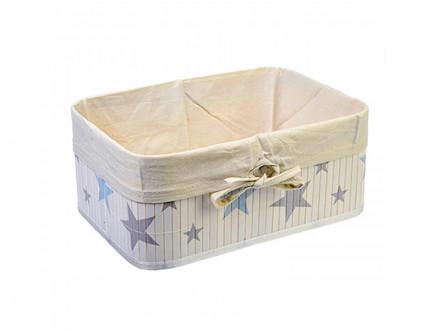 Коробка для хранения складная, бамбук, 40x30x18см Звёзды VETTA
