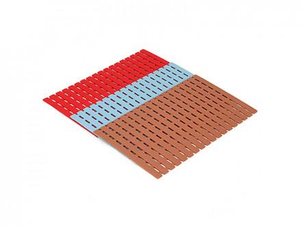 Коврик противоскользящий, пластик, 40х63,5см, 3 цвета VETTA