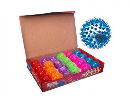 """Мяч световой """"Попрыгунчик-Шипы"""" прозрачный, ПВХ, d6,5см, 6 цветов"""