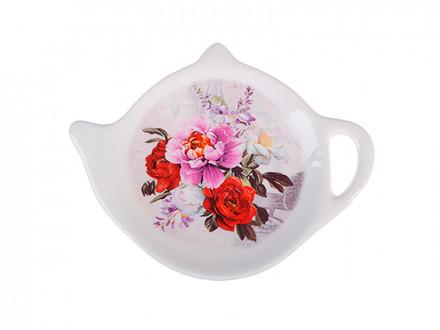 Подставка для чайных пакетиков 12х8,4х1,5см, керамика Пионы  Millimi