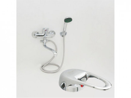 Смеситель Quartz Н9211 для ванны, дл. изогн. излив, керам. картридж 40 мм, хром