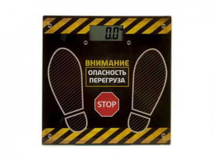 Весы напольные электрон., ЖК-дисплей, максимальная нагрузка до 180кг, 28х28х0,5см