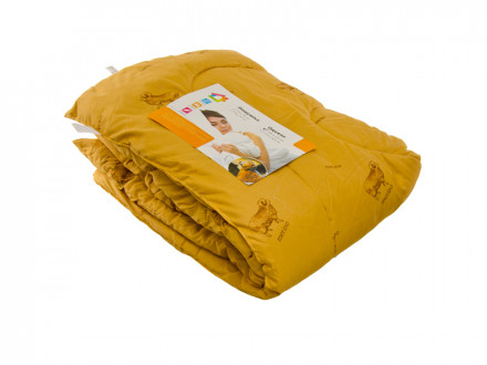 Одеяло Овечья шерсть, стеганое, утепленное, полиэстер, 140х205см
