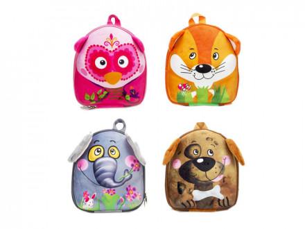 Рюкзак детский, полиэстер, ЭВА, 26,5х22см, 4 дизайна