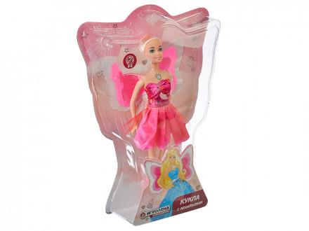 Кукла с крыльями, пластик, полиэстер, 29см,3 дизайна ИГРОЛЕНД