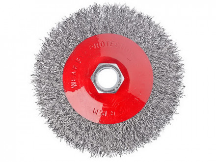 Щетка металл для ушм 100мм м14 тарелка ЕРМАК