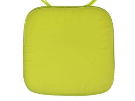 Подушка на стул с завязками полиэстер губка 36х36см 3 цвета